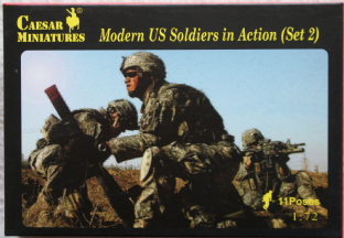 Caesar Miniatures 1/72 CMH094 US Soldiers In Action Set 2 (Modern)